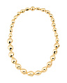 Made In Italy 14k Gold Nugget Necklace