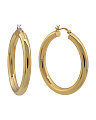 Made In Thailand 18k Gold Plated Sterling Silver 40mm Hoop Earrings