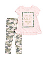 Toddler Girls Camo Sassy Pants Set