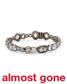 Handmade In India Pave Champagne Diamond And Moonstone 925 Bracelet