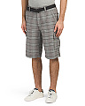 Belted Plaid Cargo Shorts