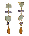 Made In India Sterling Silver Fiesta Gemstone Earrings