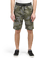 Camo French Terry Jogger Shorts