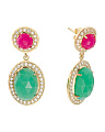 Made In India Sterling Silver Chalcedony Drop Earrings