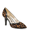 Pointy Toe Leopard Leather Pumps