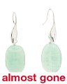 Made In Italy Sterling Silver Green Quartz Earrings