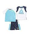 Little Boys 3pc T Shirt Muscle & Short Set