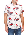 Car And Palm Print Shirt