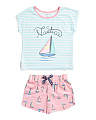 Girls 2pc Sailboat Pajama Short Set