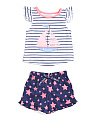 Toddler Girls 2pc Sailboat Pajama Short Set