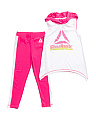 Little Girls 2pc Hooded Tank & Legging Set
