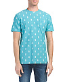 Short Sleeve Pineapple Print Tee