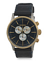 Men's Chronograph Sentry Leather Strap Watch