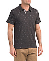 Heather Anchor Print Polo