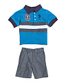 Toddler Boys 2pc Polo Short Set