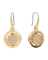 Pave Flip Disc Drop Earrings
