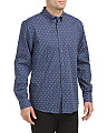 Long Sleeve End On End Print Shirt