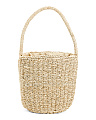 Straw Hand Braided Abaca Bucket Bag
