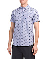 Short Sleeve Surfer Print Oxford Shirt