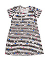 Big Girls Fantasy Print Striped Comfy Dress