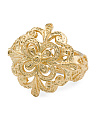 Made In Italy Gold Plated Sterling Silver Filigree Ring