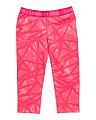 Girls Printed Active Capris