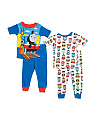 Toddler Boys 4pc Thomas The Train Cotton Sleepwear Set