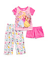 Girls 3pc Princess Sleep Set