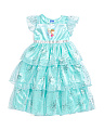 Girls Deluxe Elsa & Anna Sleep Gown