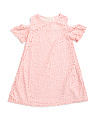Little Girls Cold Shoulder Lace Dress
