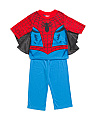 Boys Spiderman Webbed Sleeve Sleep Set