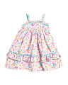 Toddler Girls Printed Ruffle Dress