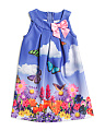 Toddler Girls Scuba Butterfly Dress