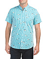 Short Sleeve Seagull Print Shirt