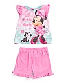 Infant Girls Minnie Mouse Short Sleep Set