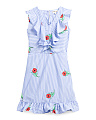 Big Girls Striped Floral Dress