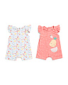 Newborn Girls 2pk Fruit Romper