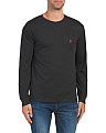 Long Sleeve Heather Pocket Tee