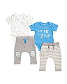 Infant Boys 4pk Mix & Match Say Yes To Fun Set