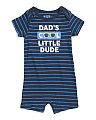 Infant Boys Dads Cool Little Dude Romper