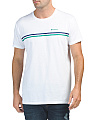 Sport Stripe Fashion Crew Tee