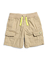Little Boys Pull On Poplin Cargo Shorts