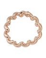 Made In Italy Rose Gold Plated Sterling Silver San Marco Bracelet
