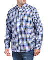Long Sleeve Wrinkle Resistant Gingham Shirt