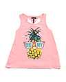 Big Girls Punky Pineapple Tank