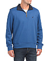 Pieced Quarter Zip Fleece Jacket