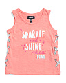 Toddler Girls Sparkle & Shine Lace Up Tank