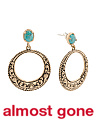 Made In Thailand Arizona Turquoise And Bronze Earrings