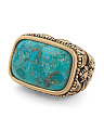 Made In Thailand Arizona Turquoise And Bronze Ring