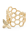 Made In Italy Sterling Silver Honeycomb Bee Ring